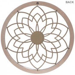 Flower With Medallion Circle Metal Wall  cor