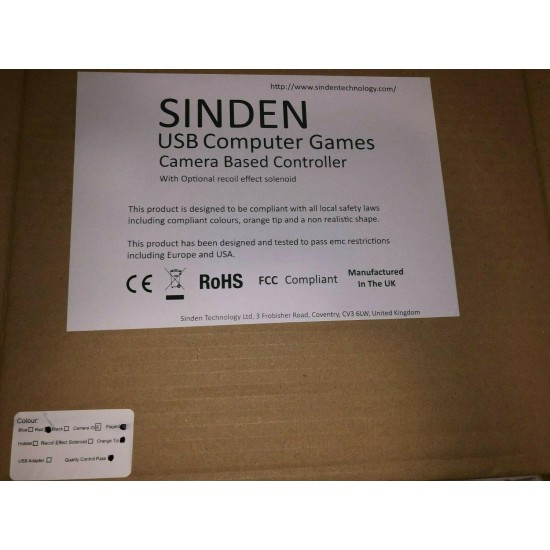 Sinden Lightgun USB LED - Two Lightguns Red and Blue Color - Brand New!
