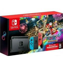 Nintendo Switch Mario Kart 8 Deluxe Bundle Red/Blue 32gb + 3 Months - BRAND NEW!