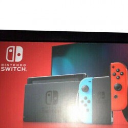 NEW Nintendo Switch V2 Neon Blue & Red Joy‑Con Handheld Console-SEALED & IN-HAND