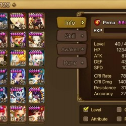 Summoners War Account (Global) with 3 nat5's, 4 Ifrits, and 18 total 6*