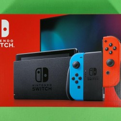 NINTENDO SWITCH NEON BLUE AND RED (NEWEST MODEL) 32GB IN HAND ULTRA HOT! WOW!