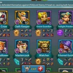 Lords Mobile 400+ Million Might, 39 heroes, 283m might from research