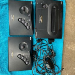neo-geo max 330 mega Console two controllers. Power cord and tv connection.