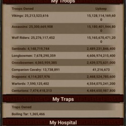 Gow account, 5.7 tril power, 648 bil research, vip 35, hero level 78