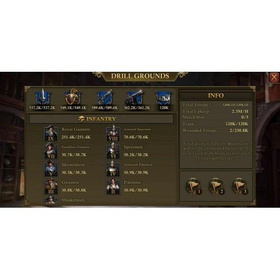 For sale! Guns of Glory Account C30 in K205!