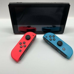 *MINT* Nintendo Switch 32GB Neon Red/Neon Blue Console *Homebrew Capable*