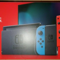 Nintendo Switch 32GB Console System w/ Neon Blue & Red Joy-Con  USED, OPEN BOX