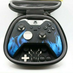 Xbox One Elite 7 Watts Rapid Fire Mod Controller w/Soft Touch Blue Flame Face