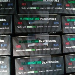 Intensafire Illuminating LED Duo Color Thumbsticks XBox 360 Red & Blue LOT OF 50