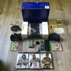 Sony Playstation 2 PS2 Console Complete In Original Box SCPH-30001R w/ Games/Acc