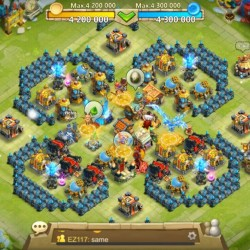 castle clash account, 235k might, lots of loot, fair price for what i out in it