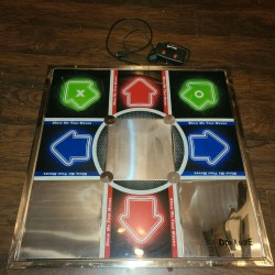 DDR Metal Tournament Dance Pad PS1 PS2 With Control Box