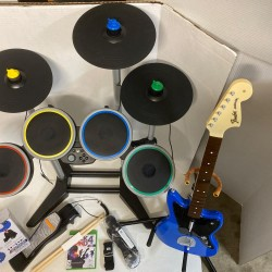 Rock Band 4 Wireless Drums Xbox One w/ Accessories! *read*