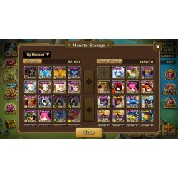 Summoners War global account 25 Nat5 tons of great monsters