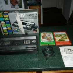 Vintage Intellivision 3 Game System/Console in Original Box, Tested + 2 Games!