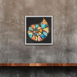 Ammonite:  ly Tropical - Original Collage Painting (unframed)