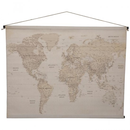 Vintage Map Tapestry Wall  cor