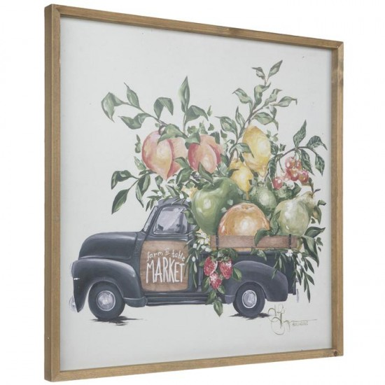 Farm To Table Truck Wood Wall  cor