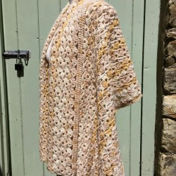 Light Spring shawl in soft warm gold hues
