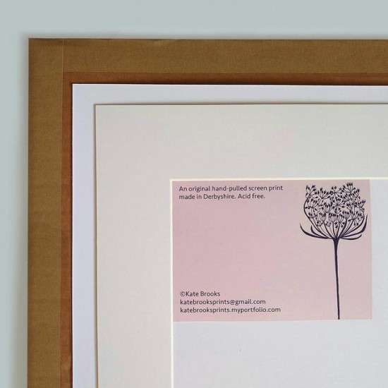 Pussy Willow Blossom, original h -pulled screen print