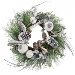 Whitewashed Pine Wreath With Pinec s