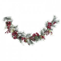 Frosted Pine Garl  With Berries