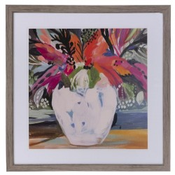 Abstract Floral Vase Framed Wall  cor
