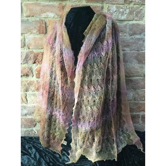 MoBair H  Dyed Kid Mohair Lace Stole 72x26