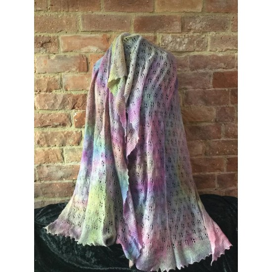 MoBair H  Dyed Baby Alpaca   Wool Stole 80x32