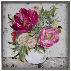 Pink Floral Wood Wall  cor